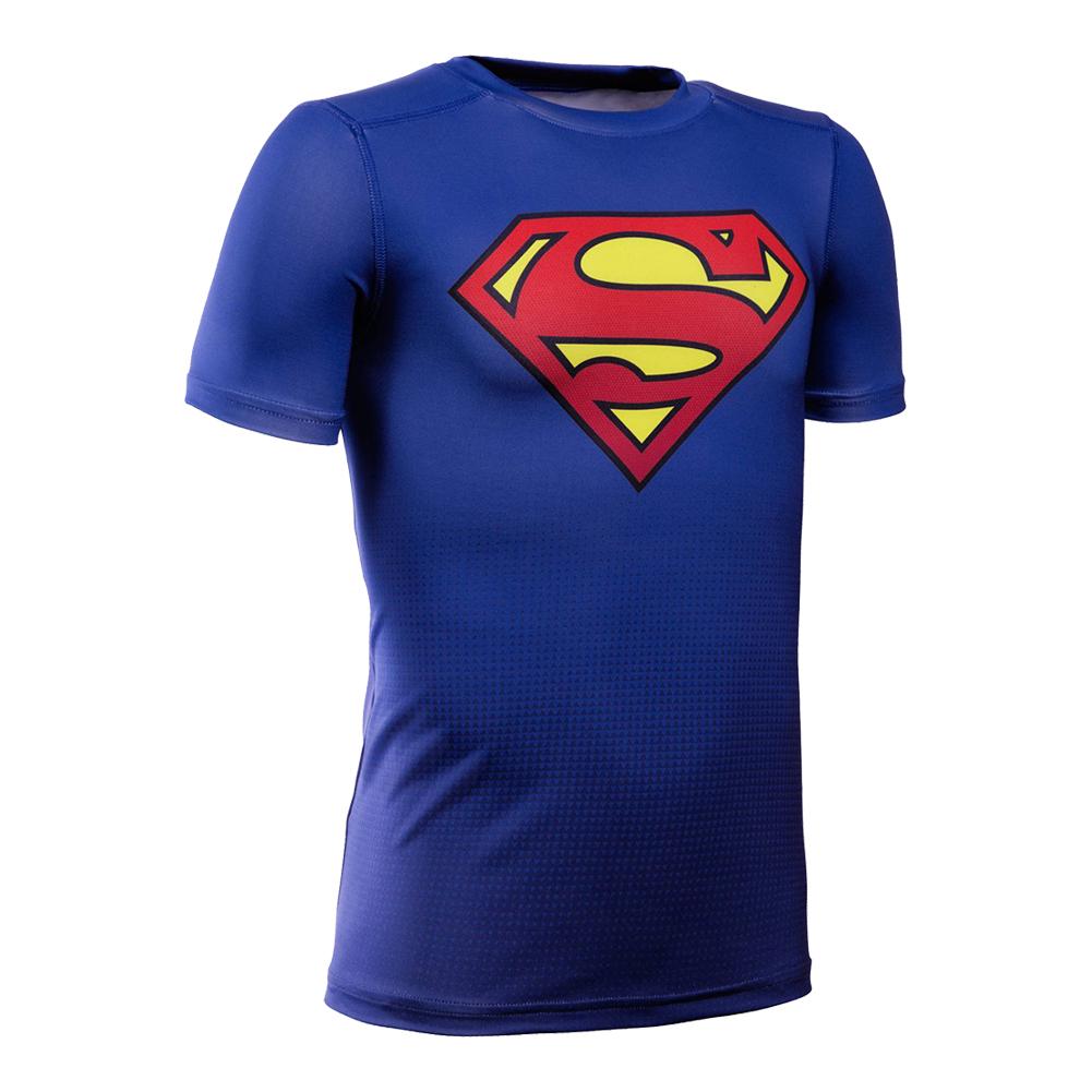 Boys ` Baselayer Superman Tee Royal