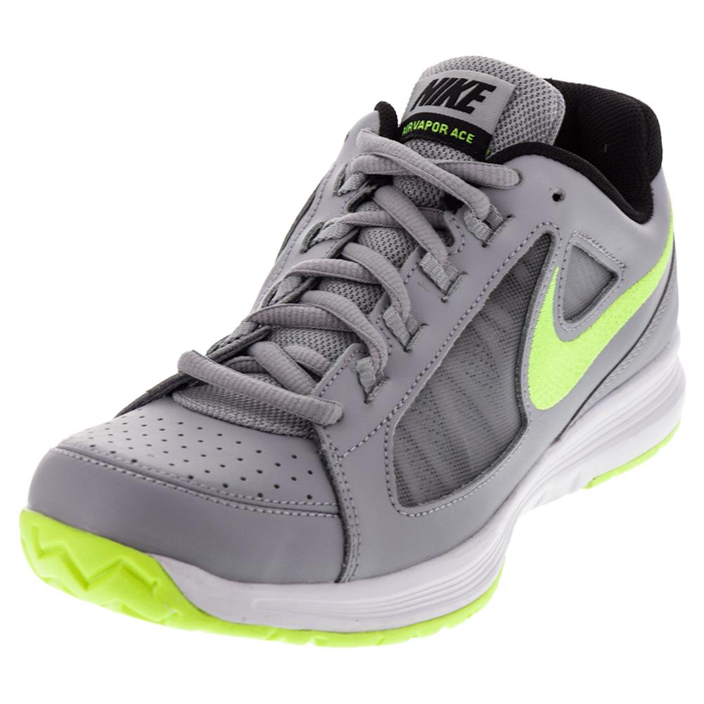 Men's Air Vapor Ace Tennis Shoes Wolf Gray And Volt