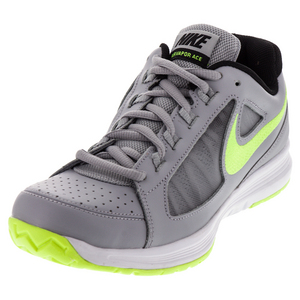 Men`s Air Vapor Ace Tennis Shoes Wolf Gray and Volt