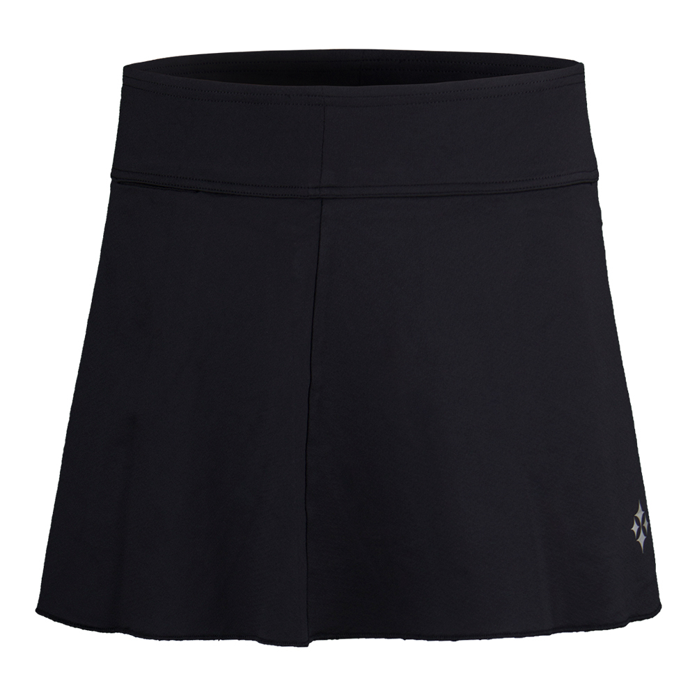 Women's Jacquard Swing Tennis Skort Black