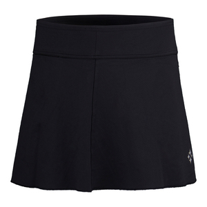 Women`s Jacquard Swing Tennis Skort Black