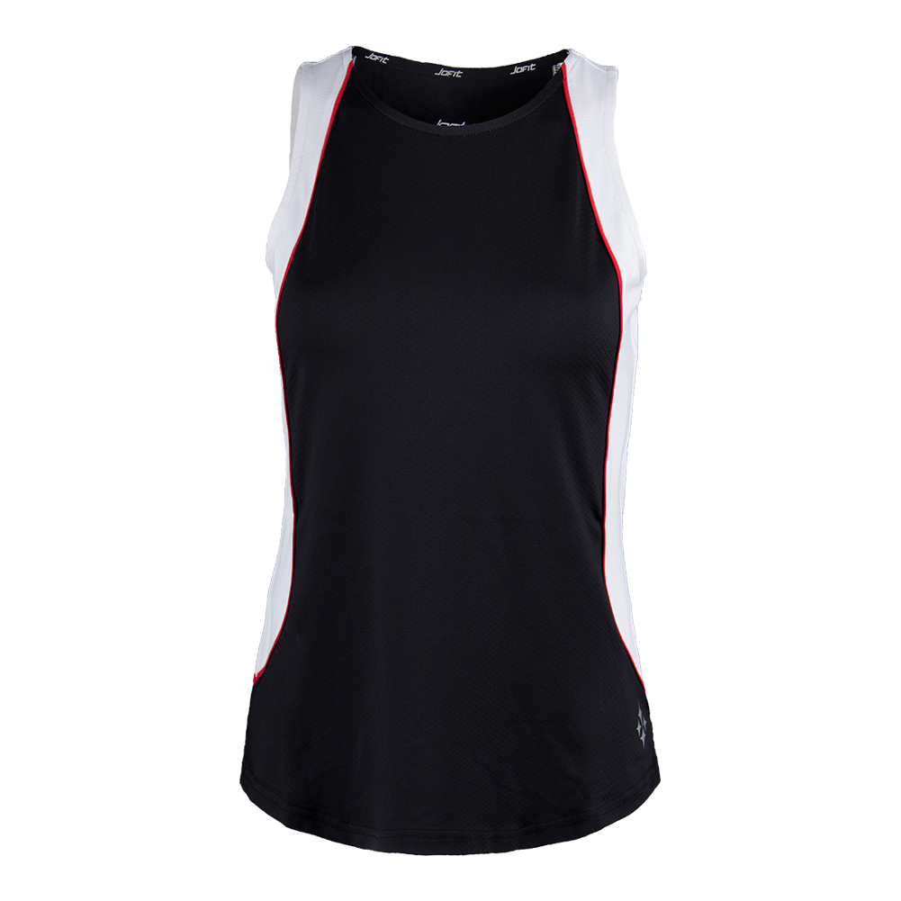 Women's Ace Tennis Tank Black And White