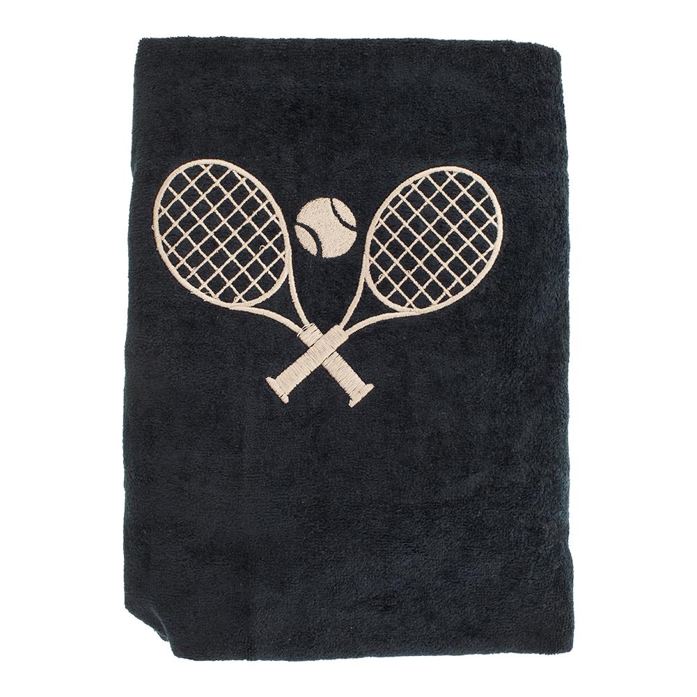 Tennis Car Seat Cover Black With Tan Logo