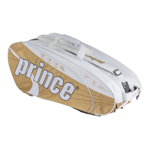 Bryan Bros Tour Team 12 Pack Tennis Bag White and Gold