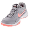 NIKE Women`s Court Lite Tennis Shoes Wolf Gray and Lava Glow