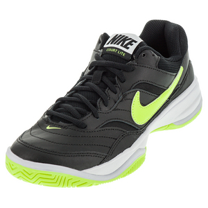 Women`s Court Lite Tennis Shoes Black and Volt