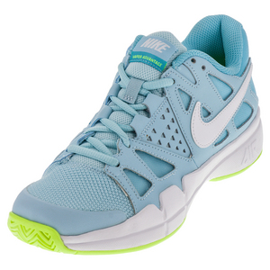 Women`s Air Vapor Advantage Tennis Shoes Still Blue and White