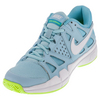 NIKE Women`s Air Vapor Advantage Tennis Shoes Still Blue and White