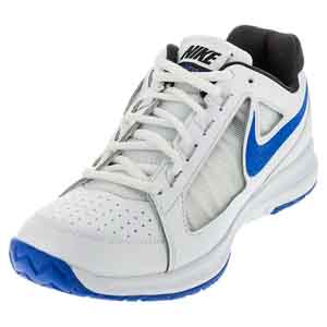 Men`s Air Vapor Ace Tennis Shoes White and Medium Blue