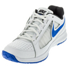 NIKE Men`s Air Vapor Ace Tennis Shoes White and Medium Blue