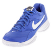 NIKE Men`s Court Lite Tennis Shoes Medium Blue and White