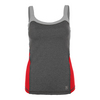 SOFIBELLA Women`s Athletic Cami Tennis Top Steel and Red