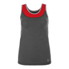 SOFIBELLA Women`s Full Back Athletic Tennis Tank Steel and Red