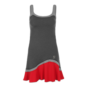 Women`s Cami Tennis Dress Steel and Red