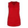 SOFIBELLA Women`s Racerback Tennis Hoodie Tank Red