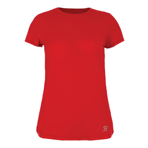 Women`s Athletic Short Sleeve Tennis Top Red