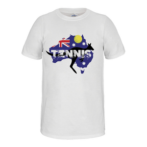 Kangaroo Aussie Tennis Tee White