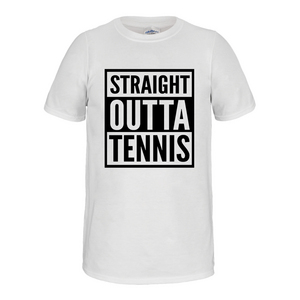 Straight Outta Tennis Tee White