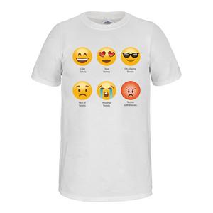 Emoji Tennis Tee White