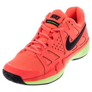 Men`s Air Vapor Advantage Tennis Shoes Hyper Orange and Black