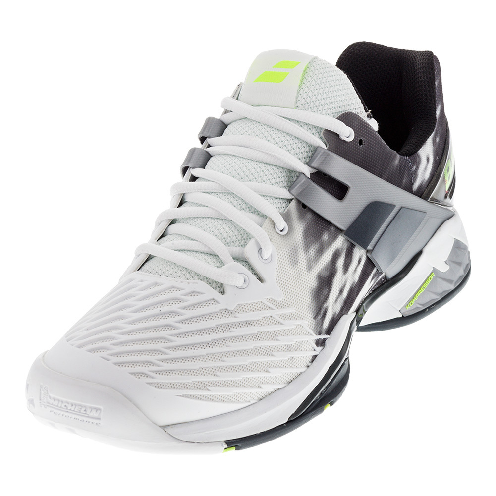 babolat s propulse fury all court shoe white black