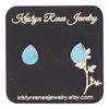 KRISTYN RENEE JEWELRY Silver Plated Turquoise Teardrop Stud Earings
