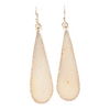 KRISTYN RENEE JEWELRY Gold Plated Teardrop Cream Color Earrings