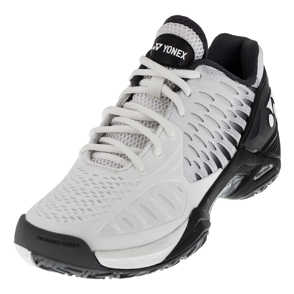 YONEX Men's Power Cushion Eclipsion Tennis Shoes in Black and White