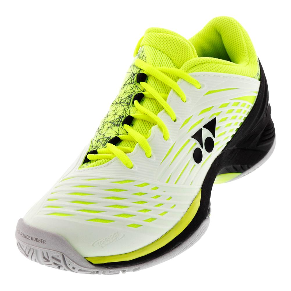 Men's Power Cushion Fusion Rev2 Tennis Shoes White And Yellow