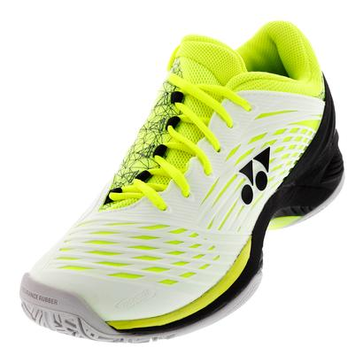 Men`s Power Cushion Fusion Rev2 Tennis Shoes White and Yellow