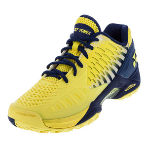Men`s Power Cushion Eclipsion Tennis Shoes Yellow and Navy