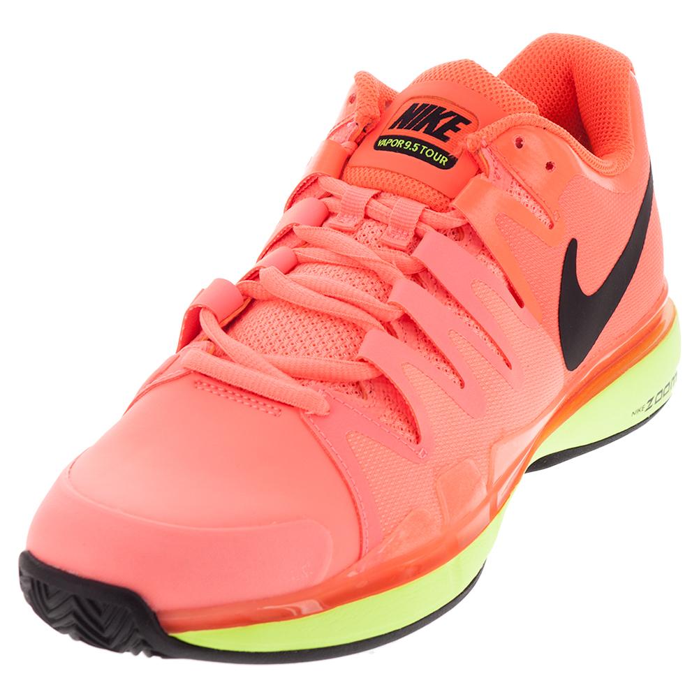 Men's Zoom Vapor 9.5 Tour Tennis Shoes Lava Glow And Hyper Orange