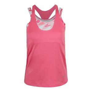 Women`s Valentina Racerback Tennis Tank Floral Pink