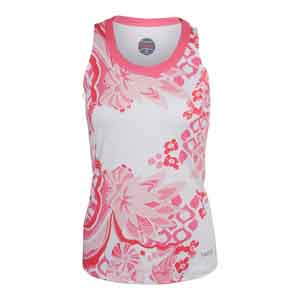 Women`s Valentina Graphic Tennis Tank White