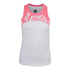 Women`s Valentina Tennis Tank White and Floral Pink by BOLLE