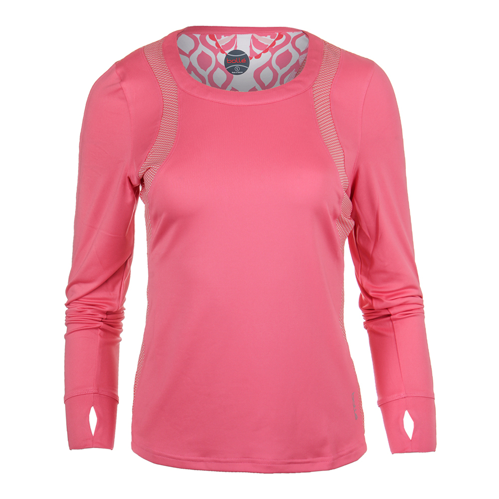 Women's Valentina Long Sleeve Tennis Top Floral Pink