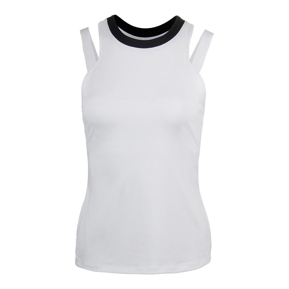 Women's Sleek Tennis Tank White And Black