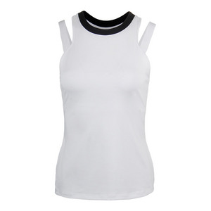 Women`s Sleek Tennis Tank White and Black