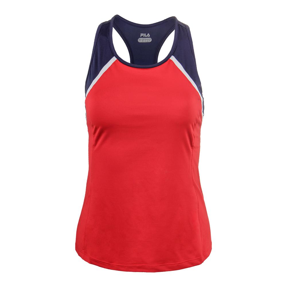 Women's Heritage Racerback Tennis Tank Chinese Red