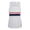 Women`s Heritage Full Coverage Tennis Tank 100_WHITE/NAVY