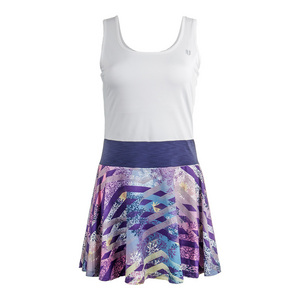 Women`s Competitor Tennis Dress Thika Print and White