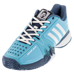 Men`s Novak Pro Tennis Shoes Blue Glow and White