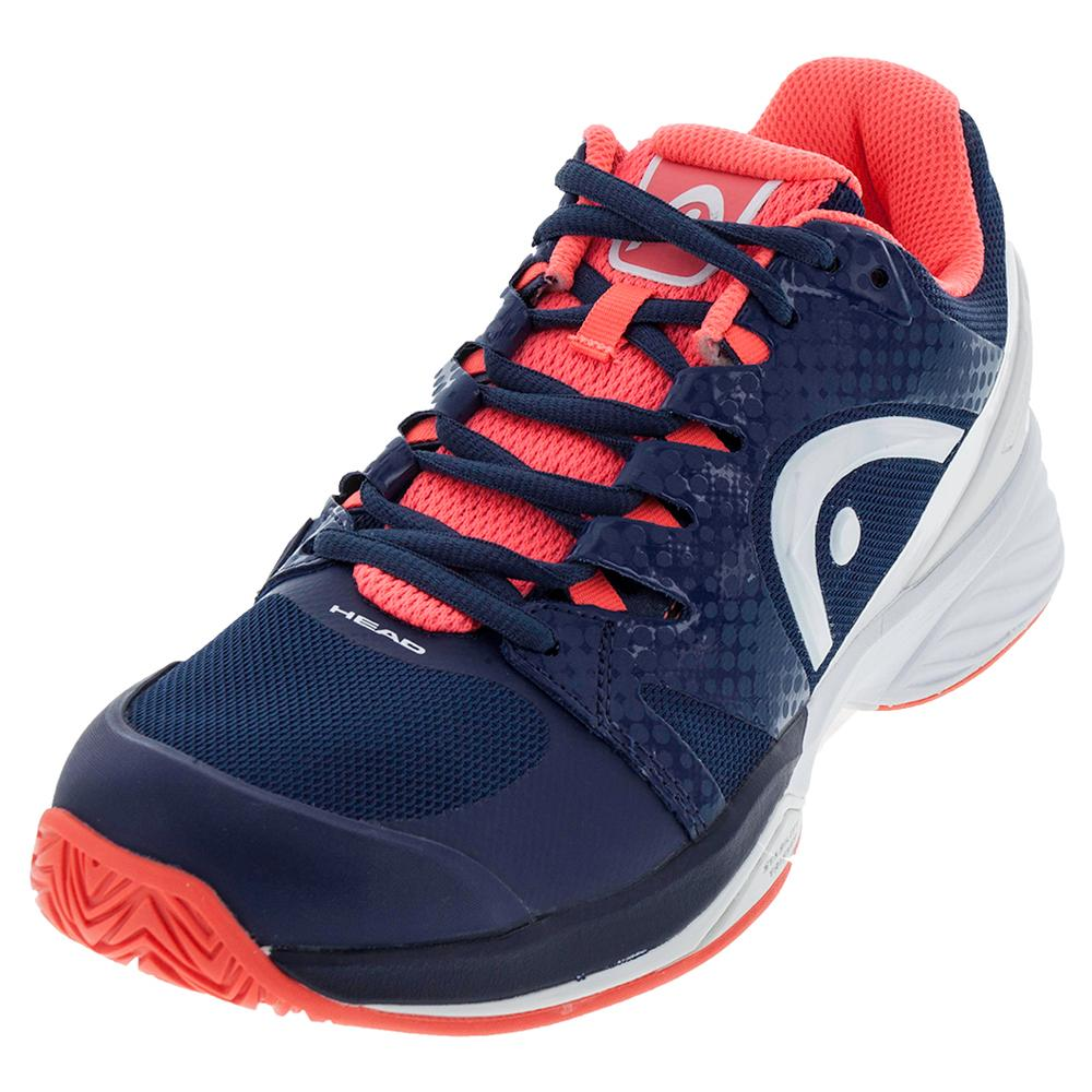 Women's Nitro Pro Tennis Shoes Navy And Coral