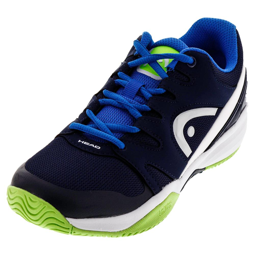 Juniors ` Nitro Tennis Shoes Navy And Neon Green