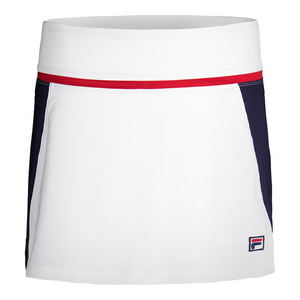 Women`s Heritage Tennis Skort White and Navy