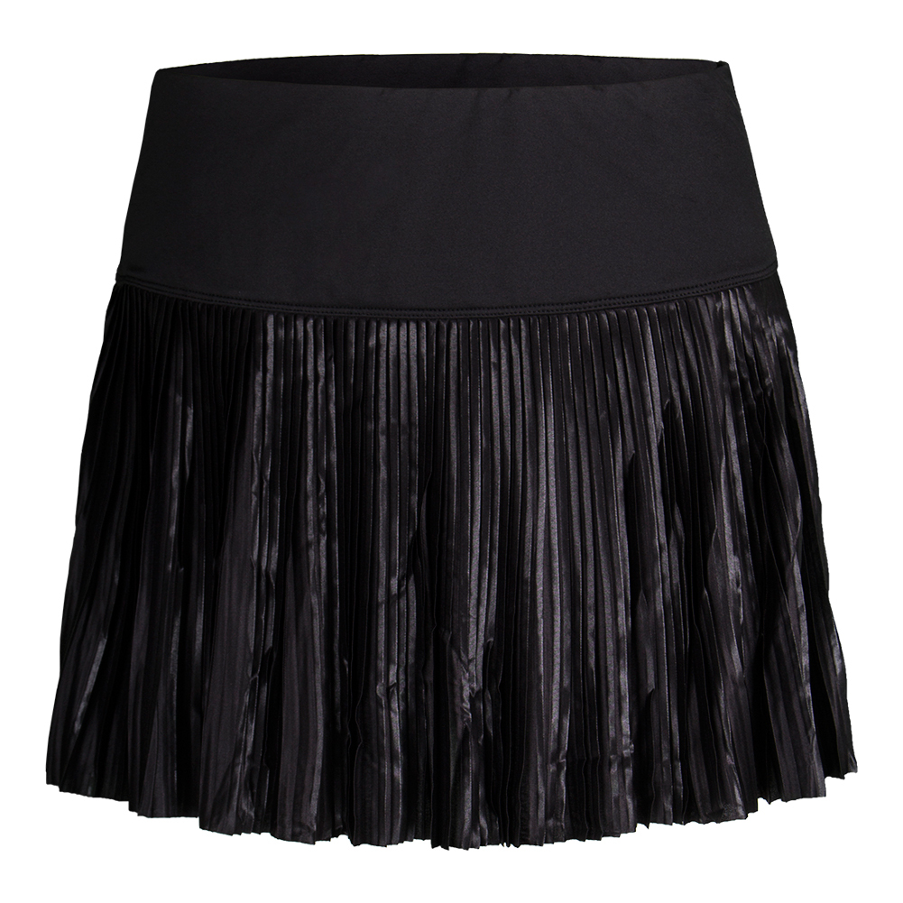 Women's Sleek Pleated Tennis Skirt Black