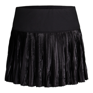 Women`s Sleek Pleated Tennis Skirt Black