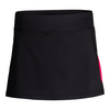 Women`s Sleek Slit Tennis Skort 001_BLACK/RUBY_ROSE