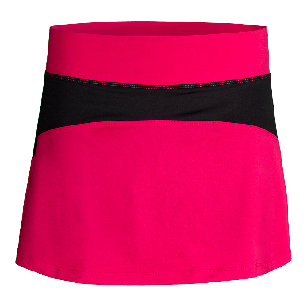Women's Sleek Insert Tennis Skort Ruby Rose And Black