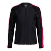 FILA Women`s Sleek Tennis Jacket Black and Ruby Rose